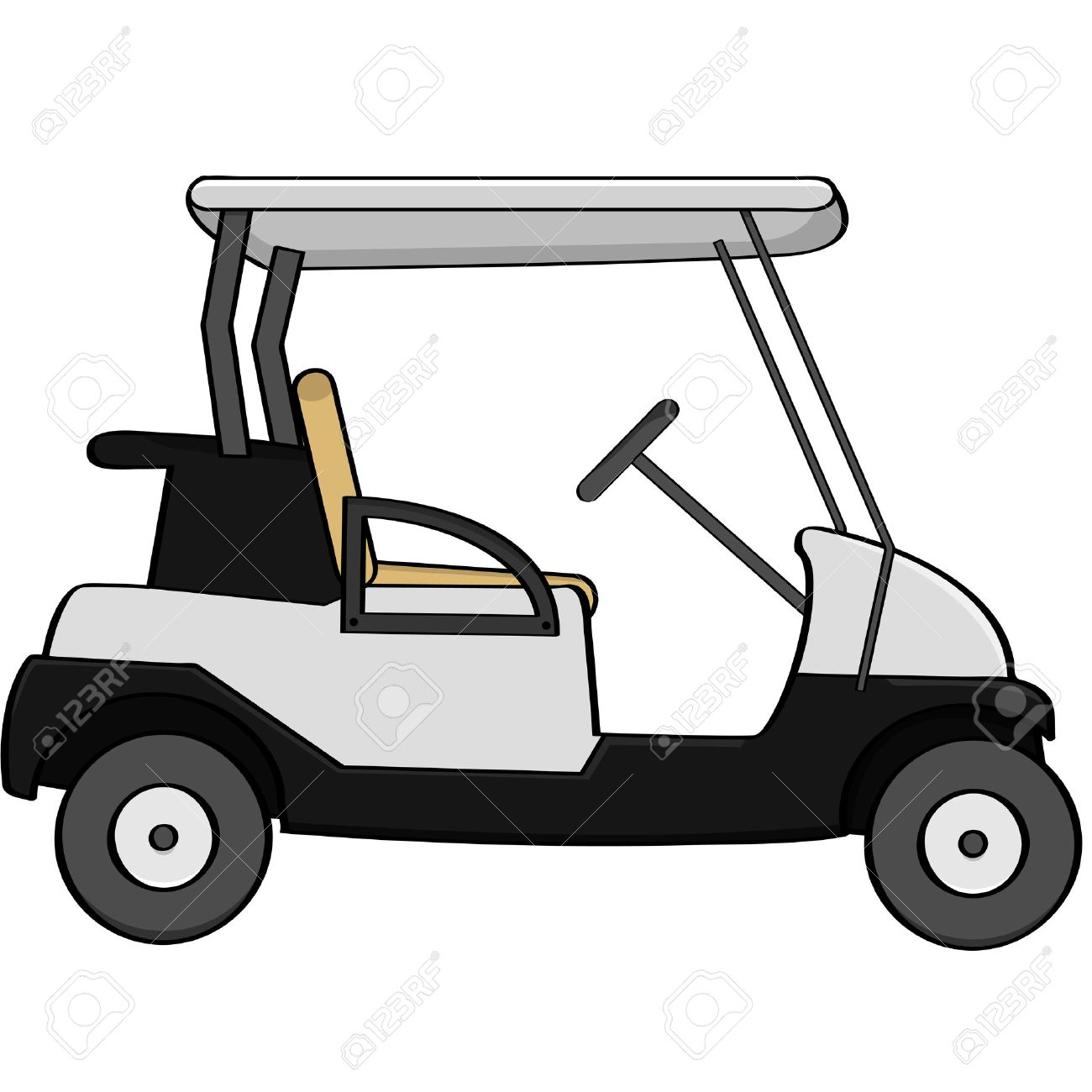 Golf Cart Clipart