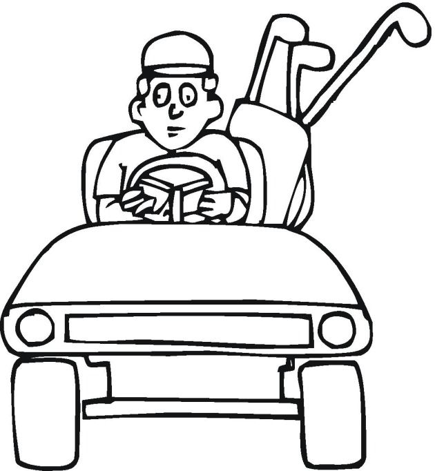 Golf Clipart Black And White