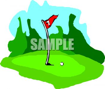 350x298 Golf Clip Art
