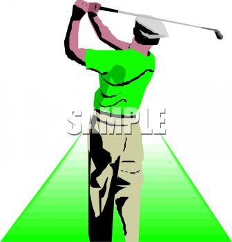 336x350 Man Playing Golf Clipart