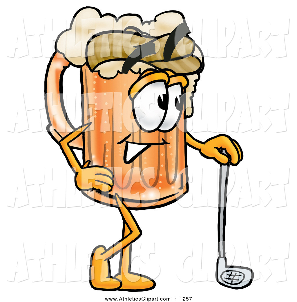 1024x1044 Clip Art Of A Sporty Beer Mug Mascot Cartoon Character Leaning