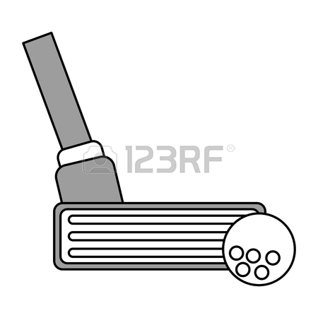 450x450 Color Silhouette Cartoon Gray Closeup Golf Club Vector