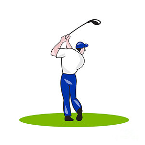 300x300 Golf Cartoons Art Fine Art America
