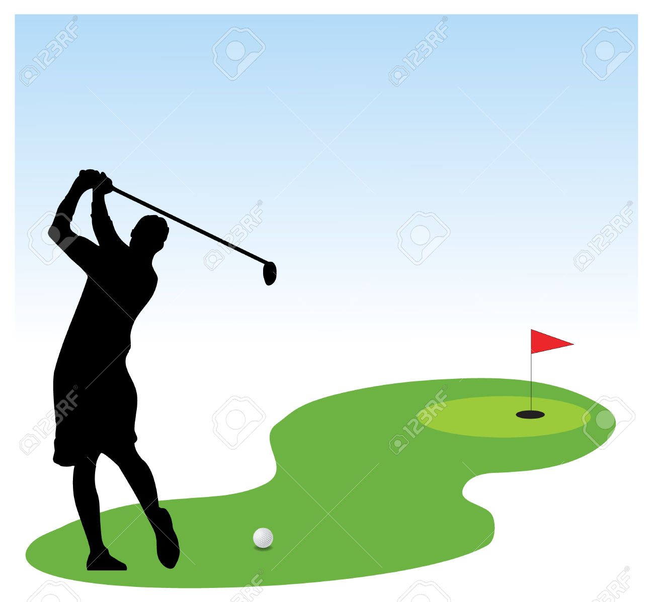 1300x1198 Golf Course Clipart Golfer