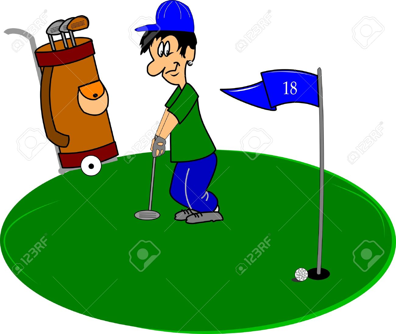 1300x1098 Golf Course Clipart Putting Green