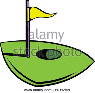 327x320 Golf Course Icon, Icon Cartoon Stock Vector Art Amp Illustration