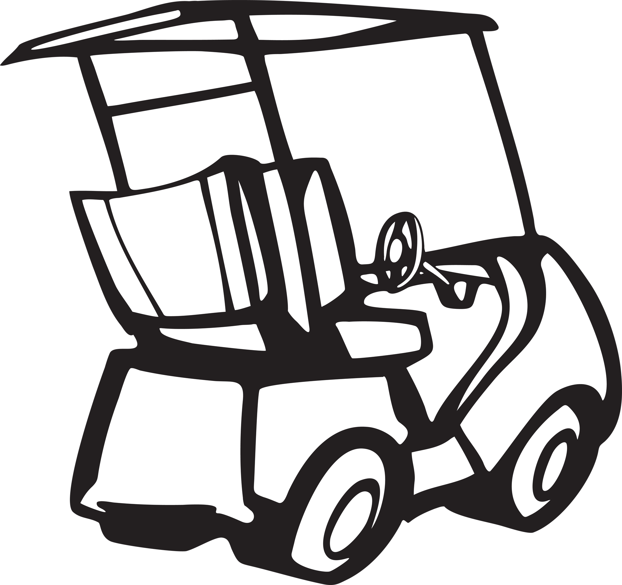 2000x1881 Golf Course Clipart Golf Cart