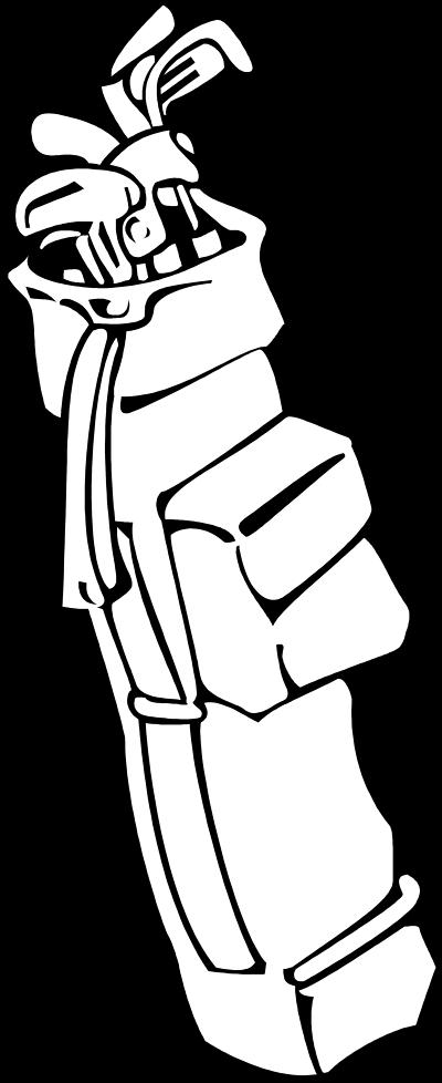 400x978 Golf Club Golf Bag Clipart 2