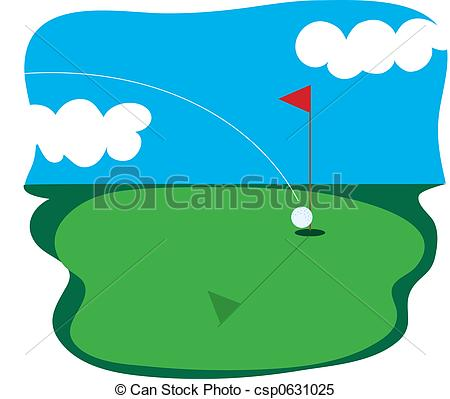 450x399 Golf Greens Clipart