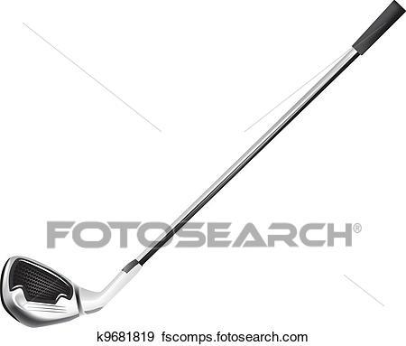 450x383 Clip Art Of Golf Club K9681819