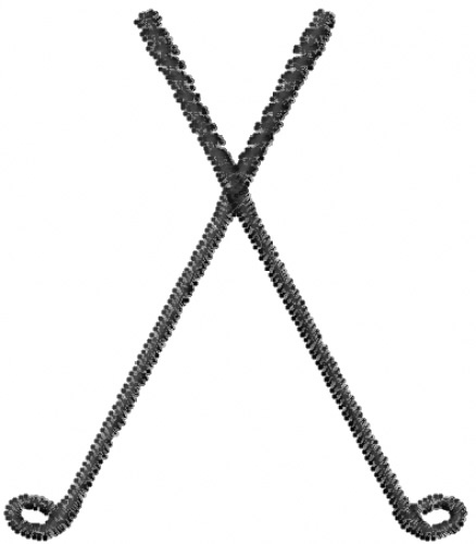 438x500 Crossed Golf Clubs Cliparts 2