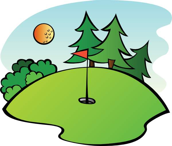 600x510 Golf Course Clipart