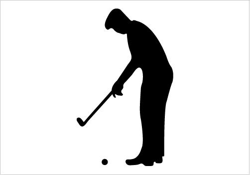 502x351 Golf Silhouette Clipart