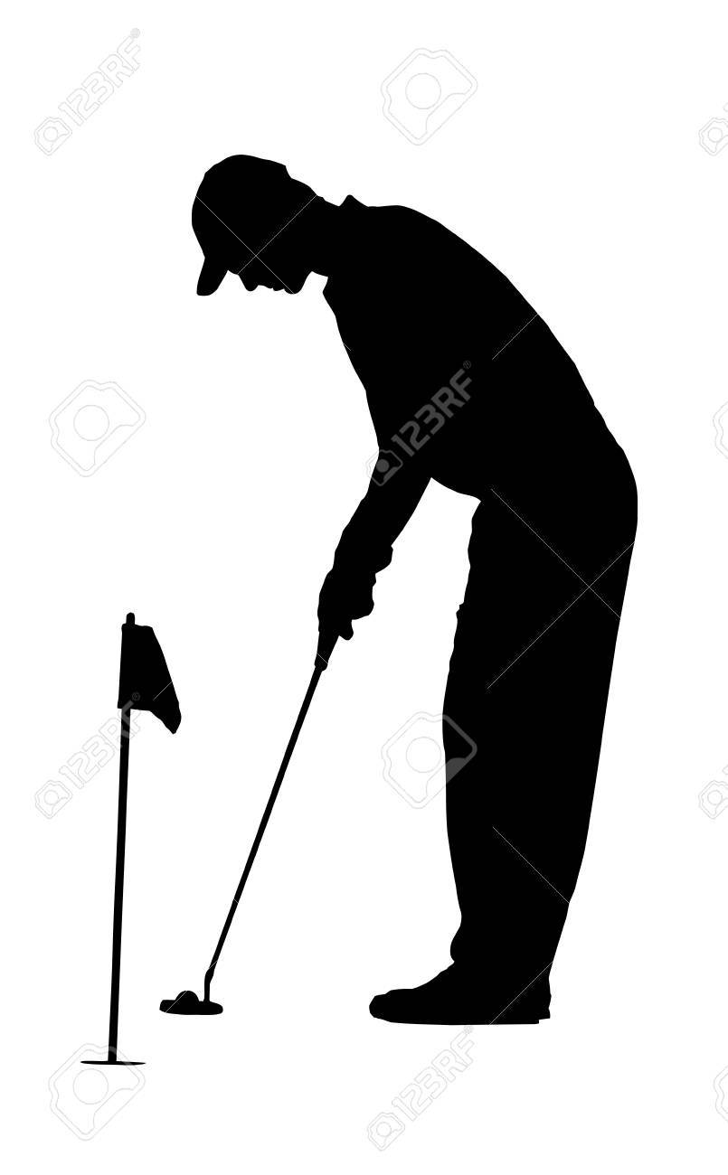 805x1300 Golf Sport Silhouette