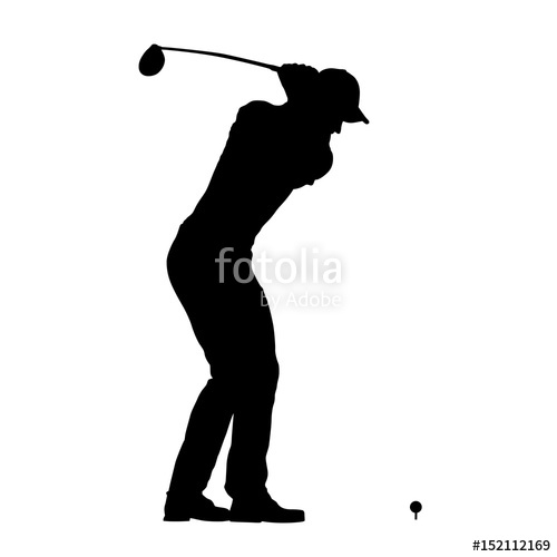 500x500 Golf Player Vector Isolated Silhouette Stock Image And Royalty