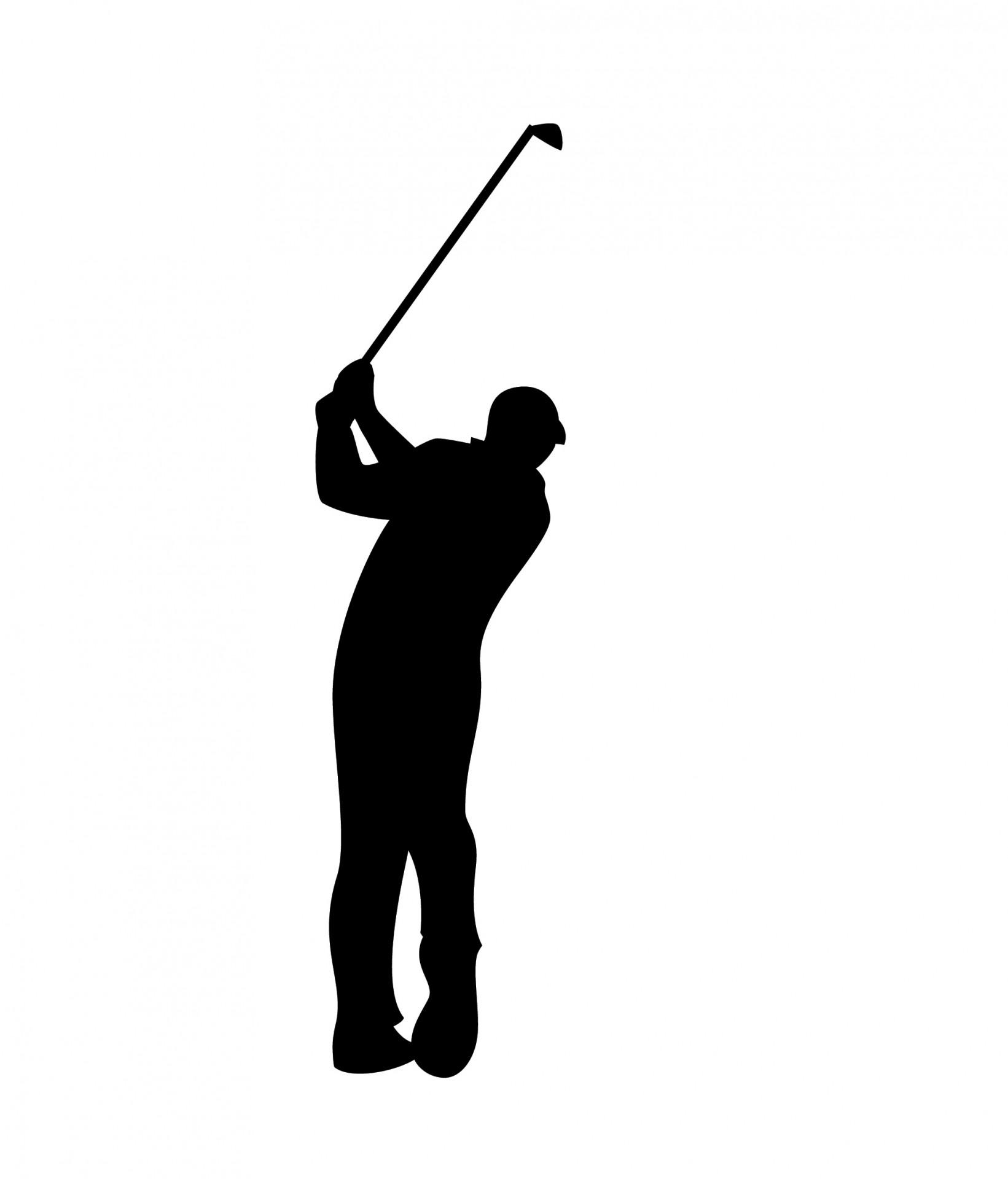 1641x1920 Golfer Black Silhouette Free Stock Photo