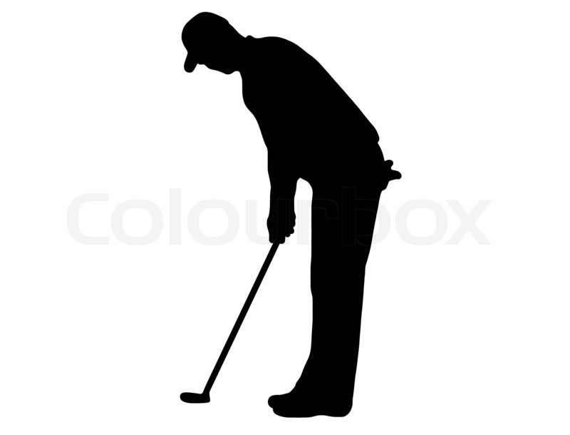 800x610 Golfer Silhouette Stock Photo Colourbox