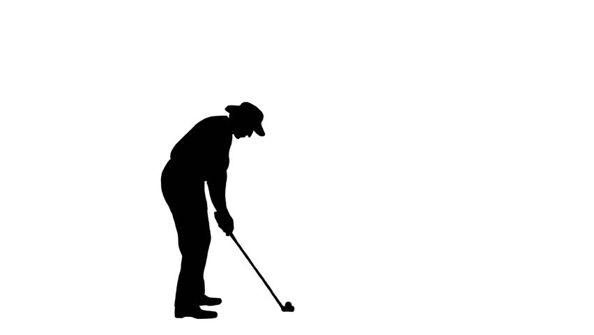 852x480 Golfer Silhouette Stock Footage Video 73186 Shutterstock
