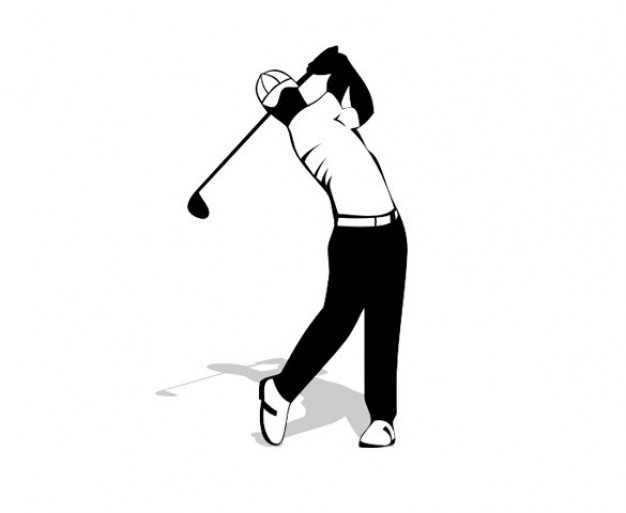 626x513 Golfer Silhouette Vector Free