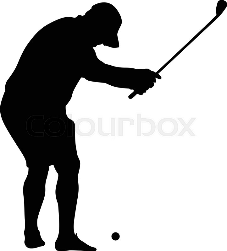 722x800 Golfer Amateur Silhouette Vector Stock Vector Colourbox