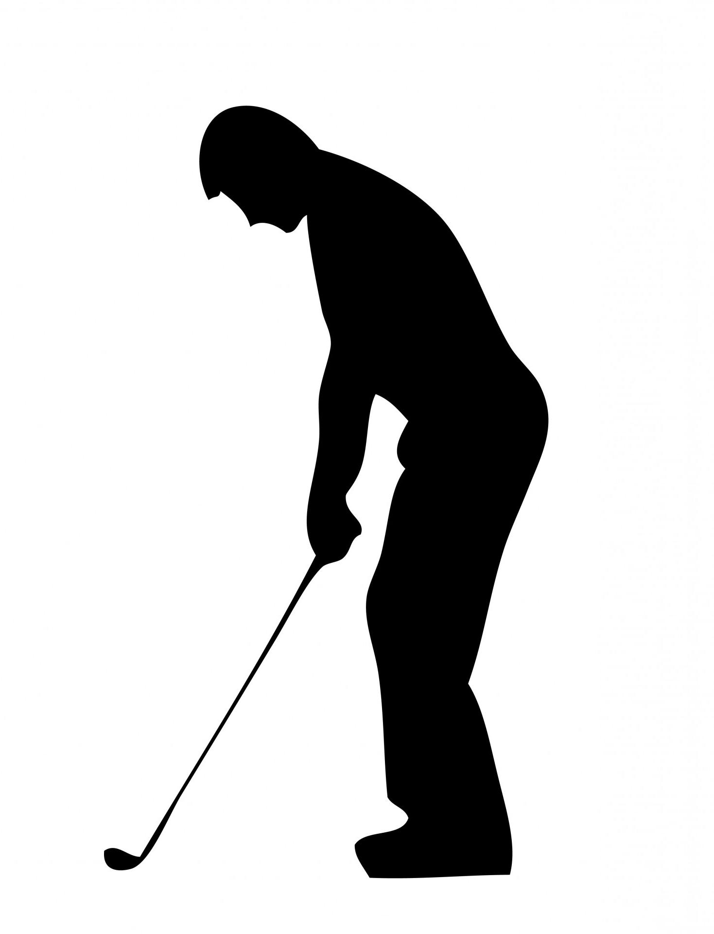 1469x1920 Best 15 Golf Player Silhouette Clipart Images