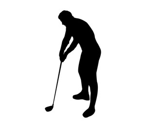 300x263 Symbol Of Golf. Royalty Free Stock Image
