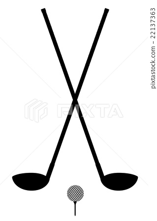 319x450 Golf Club And Ball Silhouette Outline Vector