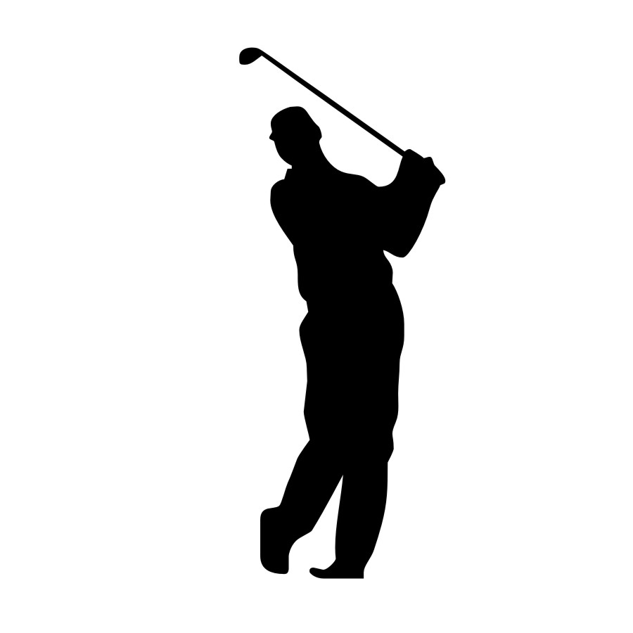 900x900 Dctop Fashionable Modern Vinyl Removable Male Golf Player