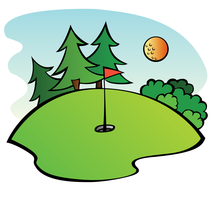 900x900 Golf Course Cliparts