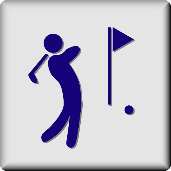 Golf Clubs Clipart