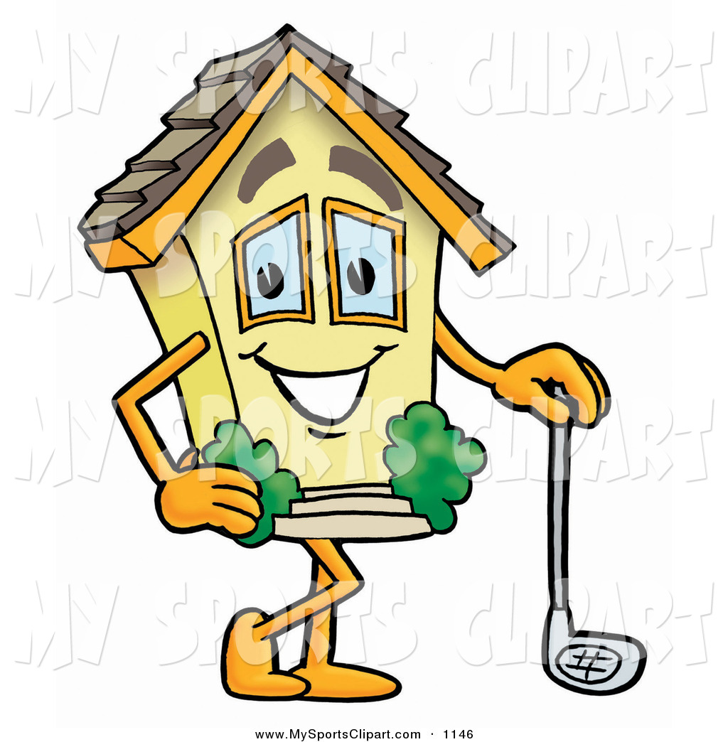 1024x1044 Sports Clip Art Of A Sporty House Mascot Cartoon Character Leaning