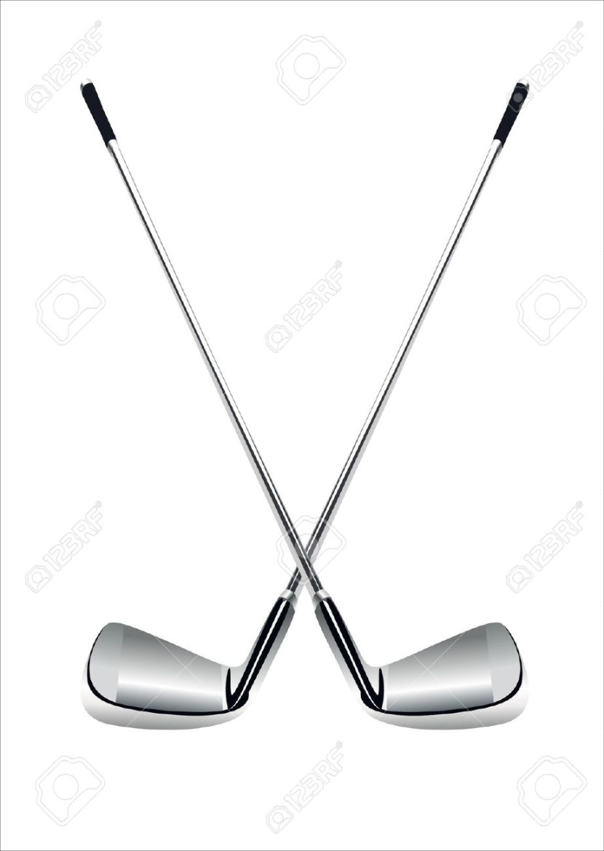 830x1170 Crossed Golf Clubs