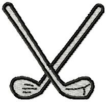 210x200 Crossed Golf Clubs Embroidery Designs, Machine Embroidery Designs