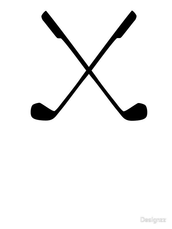 600x800 Crossed Golf Clubs Stickers By Designzz Redbubble
