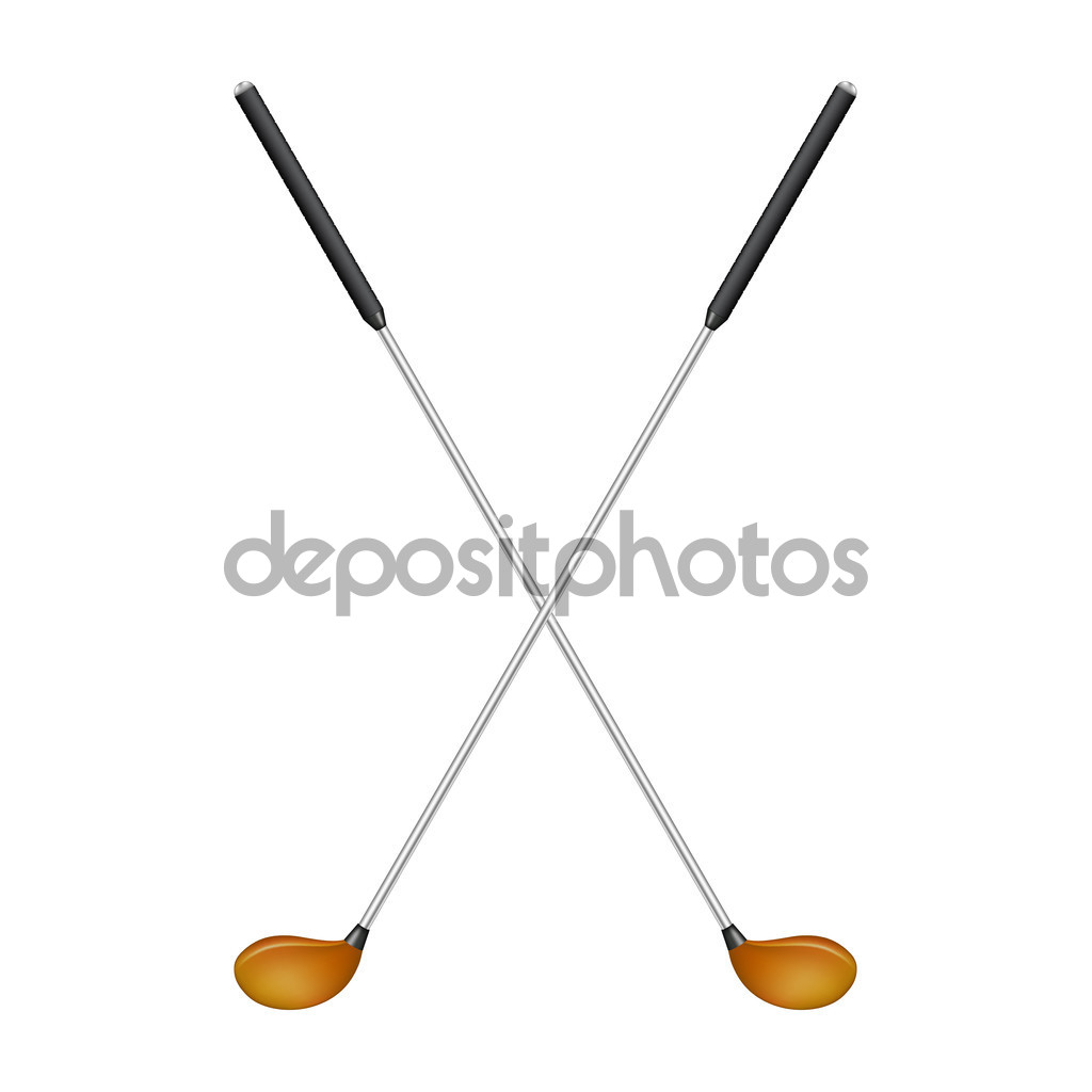 1024x1024 Crossed Golf Clubs No Background