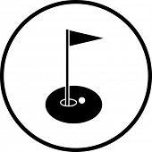 170x170 Golf Clubs Bag Symbol Vector Amp Photo Bigstock