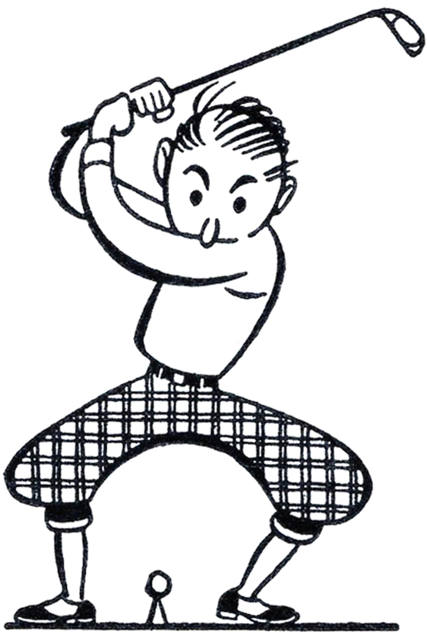 1500x2237 Golfer Clip Art