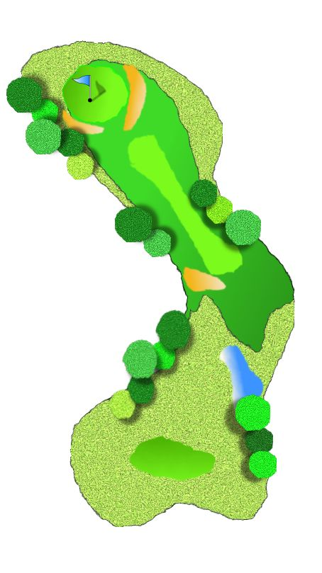 Golf Course Clipart