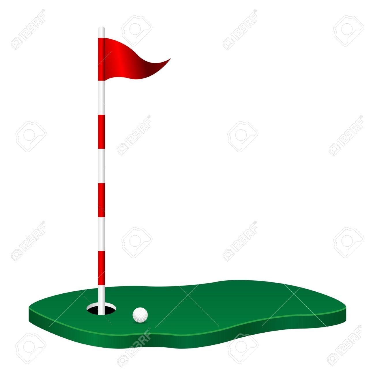 1300x1300 Golf Course Clipart Golf Flag