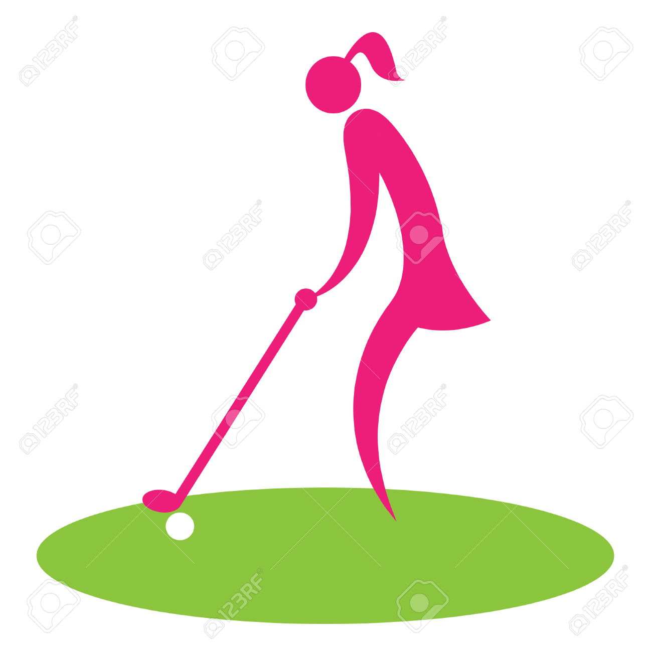 1300x1300 Golf Course Clipart Woman Golfer