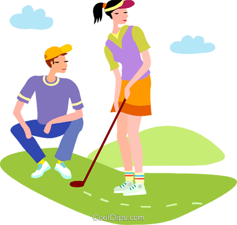 480x457 Golf Vector Clipart Of A Couple Playing Golf Coolclips Golf