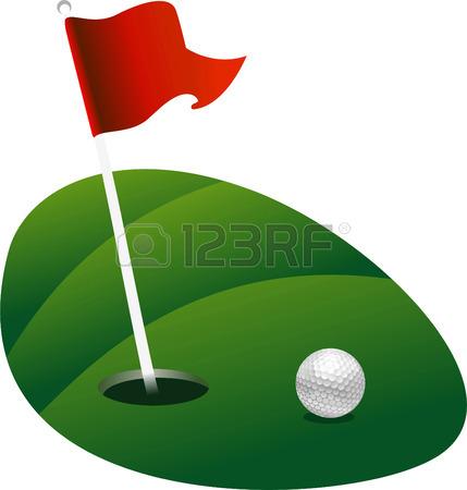 Golf Flagstick Clipart