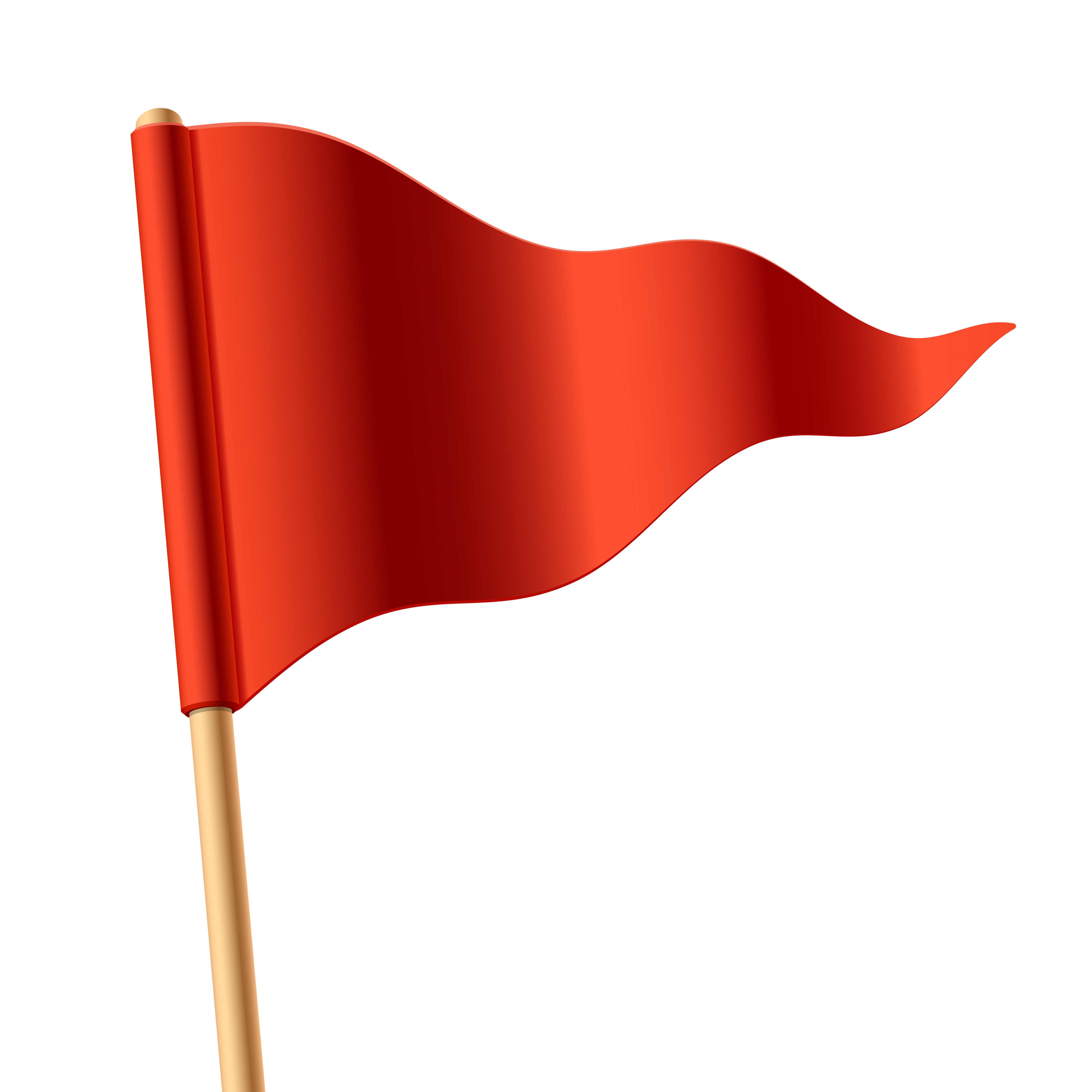 5000x5000 Free Red Flag Clipart