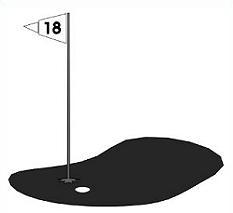 233x213 Golf Course Flag Clip Art