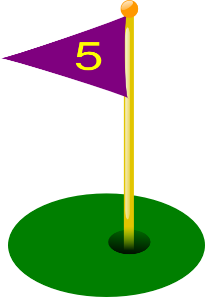 408x591 Golf Flag Clip Art