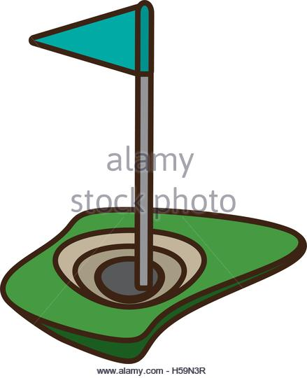 439x540 Golf Flag Flat Web Design Stock Photos Amp Golf Flag Flat Web Design