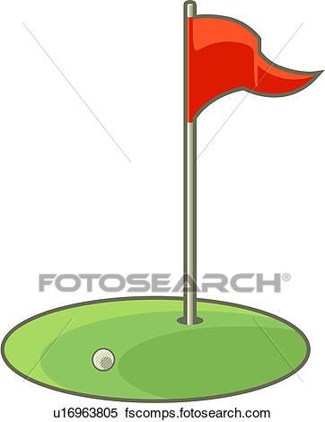 362x470 Golf Flag Illustrations And Clip Art. 1,374 Golf Flag Royalty Free