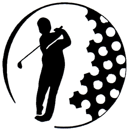 414x420 Dog Golfing Clipart