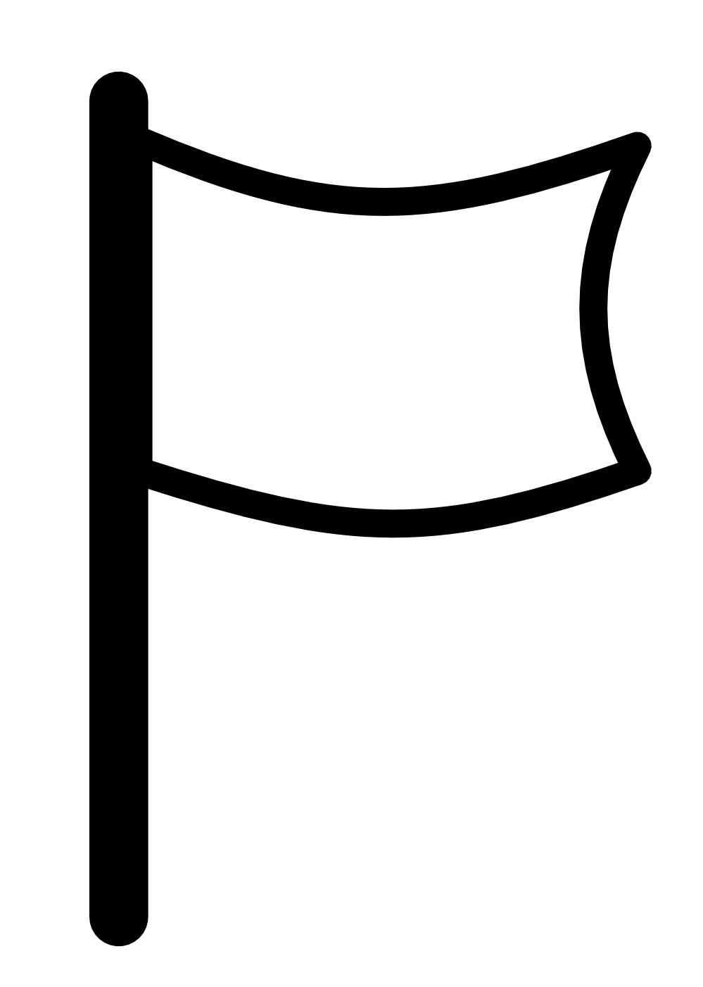 999x1403 Flag Pole Clipart