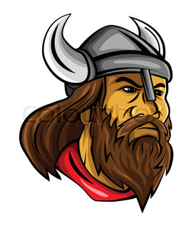 268x320 Viking Head. Vector Clip Art Illustration With Simple Gradients